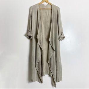 BP. Light Taupe Half Sleeve Kimono